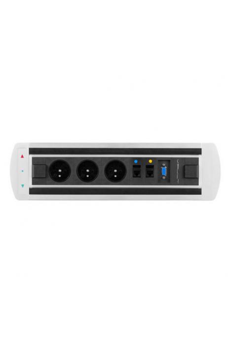 Office Pro VAULT BTCZ 003 elektricky otočný panel 3x el.zás.,2x data