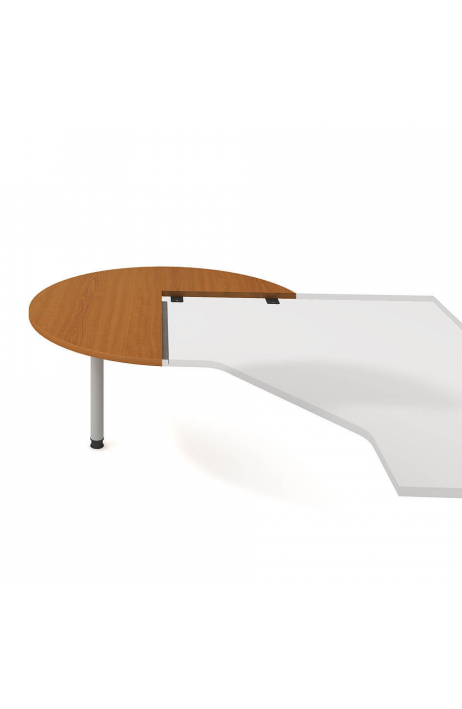 Hobis jednací stůl Cross CP 22 L N levý napříč ø 120 cm