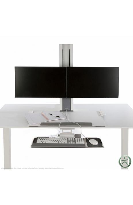 HUMANSCALE pracovní stanice Quick Stand dva monitory velká platforma