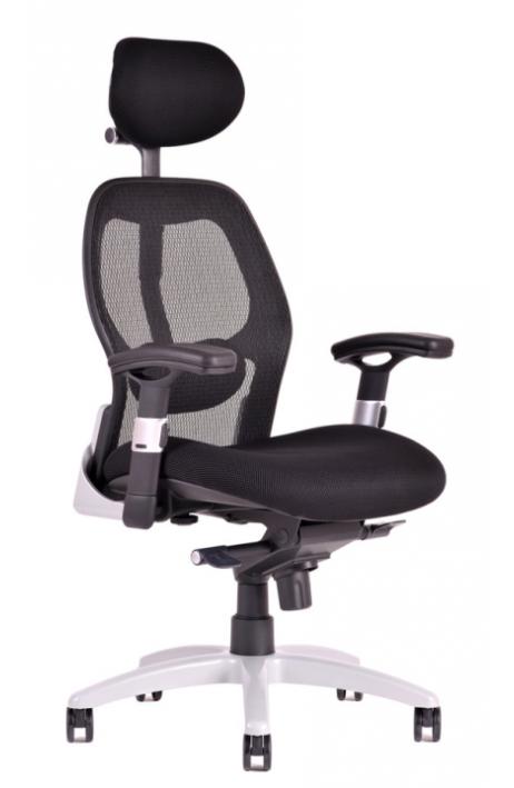 OFFICE PRO kancelářská židle Saturn NET černá s područkami - prodloužená záruka 3 roky